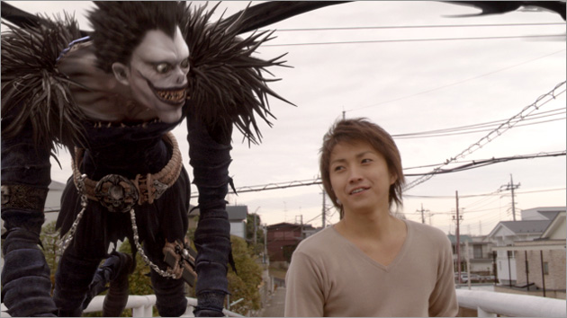 death note light and ryuk