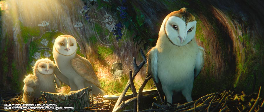 """(L-r) Eglantine, as voiced by EMILIE DE RAVIN, Soren, as voiced by JIM STURGESS, and Kludd, as voiced by RYAN KWANTEN, in Warner Bros. Pictures' and Village Roadshow Pictures' family fantasy adventure """"Legend of the Guardians: The Owls of Ga'Hoole,"""" released by Warner Bros. Pictures. PHOTOGRAPHS TO BE USED SOLELY FOR ADVERTISING, PROMOTION, PUBLICITY OR REVIEWS OF THIS SPECIFIC MOTION PICTURE AND TO REMAIN THE PROPERTY OF THE STUDIO. NOT FOR SALE OR REDISTRIBUTION."""