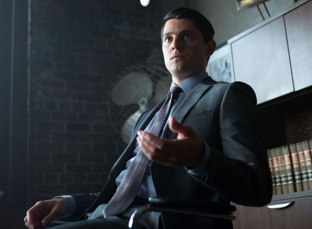"GOTHAM: Nicholas D'Agosto as Harvey Dent in the ""Harvey Dent"" episode of GOTHAM airing Monday, Nov. 17 (8:00-9:00 PM ET/PT) on FOX. ©2014 Fox Broadcasting Co. Cr: Jessica Miglio/FOX"