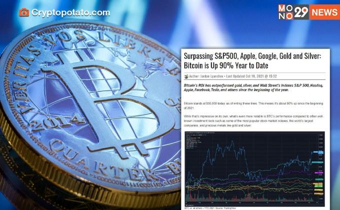 บิตคอยน์มาแรง ผลตอบแทนแซงหน้า S&P 500 – ทองคำ